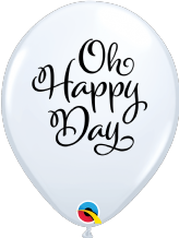 Simply Oh Happy Day Balloons (White) - 11 Inch Balloons 25pcs